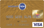 AccountNow prepaid debit cards gold card